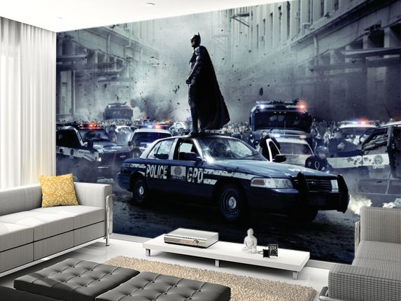 New dark knight rises wall murals gonza pinterest for Dark knight mural