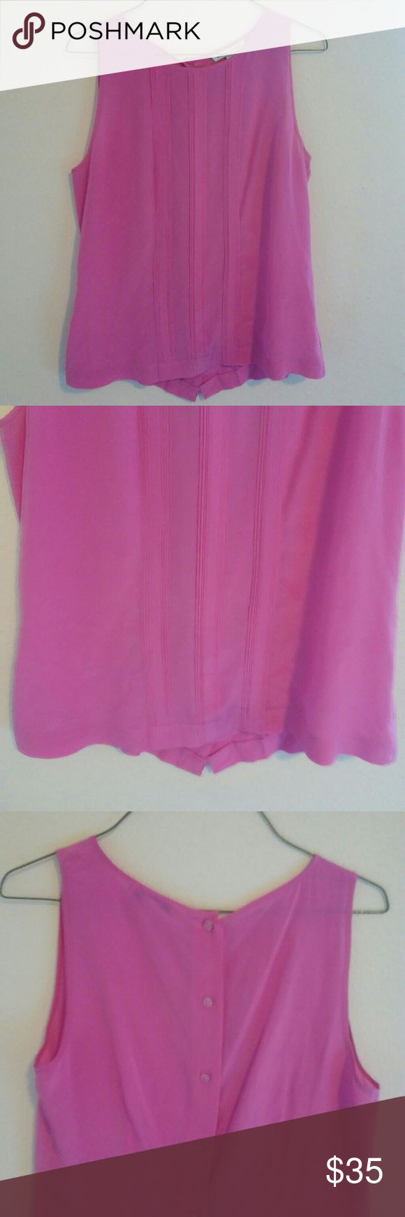 Pink Banana Republic Silk Button Down Add a pop to your outfit with this super cute button down! Silk material in excellent preowned condition! Banana Republic Tops Button Down Shirts