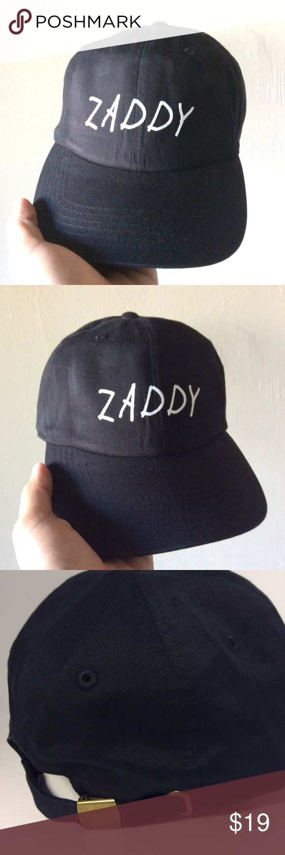 Zaddy Dad Hat NWT Black, adjustable hat with tuck pocket NEW UNISEX___Ignore tags: huf, weed, marijuana, kush, obey, stussy, dope, trill, Blvck, boy london, paris, joggers,  trap style, rave, rare, huf, blvck fashion, trill, pipe, dabber, glass, sad, me, goth, goth girl, woes, the six, 6ix, ovo, blvck, Brooklyn, London, pikachu, 6 God, glitter, naps, mobb, asap, long style, Ovo, snapback, cap Accessories Hats