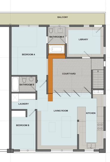 59 best images about floorplans elevations on pinterest for Apartment plans with courtyard