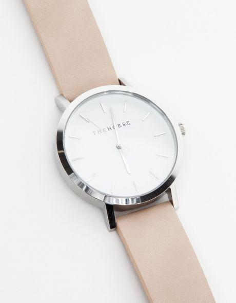 Silver/Natural Band Watch