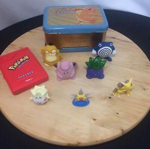 Vintage POKEMON 90's BUNDLE~ Pokedex~Tin Box~Tomy & J.Franco&Sons Figurines  | eBay