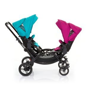 ABC Design Zoom Tandem Pushchair In Coral With Grape