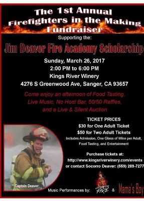 #QuickPickleKit proud to support #fire #cadet #fundraiser at #KingsRiverWinery to raise money for cadets tuition, uniforms & supplies, thereby supporting their pursuit of higher #education & making their #dream of becoming a #firefighter a #reality. #Centerville #Sunnyside #Clovis #MorroBay #Sanger #FireDepartment #VROP #teach #mentor #students #giving #serving #devotion #Fresno #FireAcademy #investinyouth #CommunityCollege #KingsRiverWine More info: www.QuickPickleKit.com…