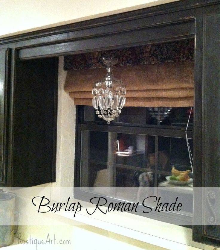 burlap roman shade u003e no shade tutorial here pinned bc like