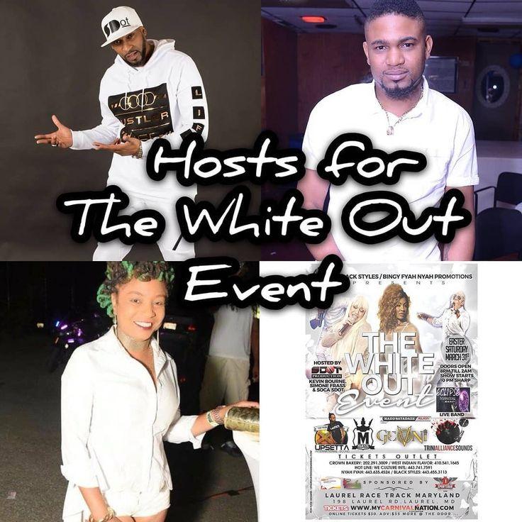 """De Origin@list"" .. #WhiteOut  #Hosts #SocaSdot #SimoneFrass #kevinbourne WWW.MYCARNIVALNATION.COM  #DC #Md #Va #Baltimore #Maryland #Delaware #Virginia #NewYork #Philly #Soca #Reggae #Afro #Dance #DanceHall  #DMV #WearWhite #WeInDatCauseDatInWe #africa #guyana #haiti  #Party #Nc #Fete #Jab #grenada  GET YOUR TICKETS NOW!! ..."