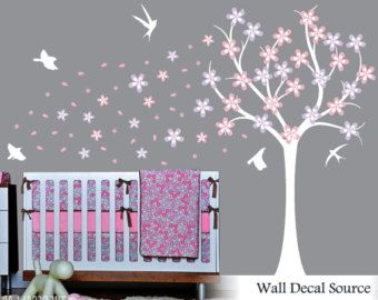 Nursery Decals Owl Decals Nursery Tree Decals por WallDecalSource