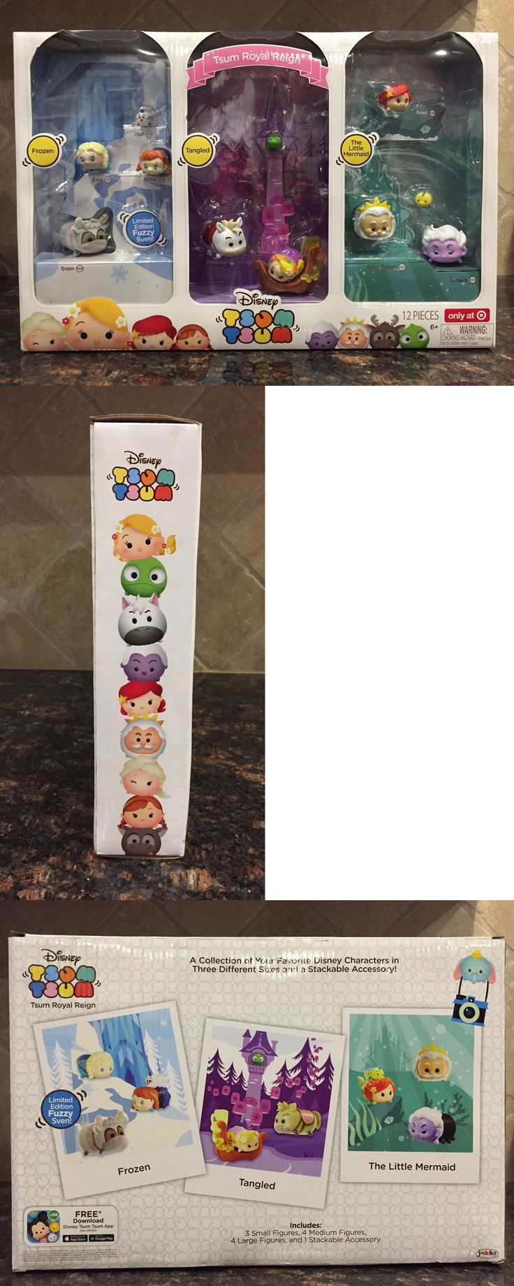 Other Disney Toys 19224: *Target Exclusive* Tsum Royal Reign Tsum Tsum Frozen Rapunzel Little Mermaid -> BUY IT NOW ONLY: $58 on eBay!
