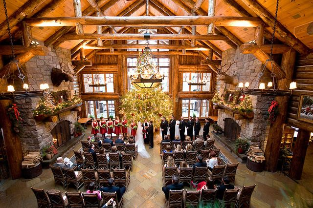 Beautiful Indoor Ceremony At The Whiteface Lodge Lake