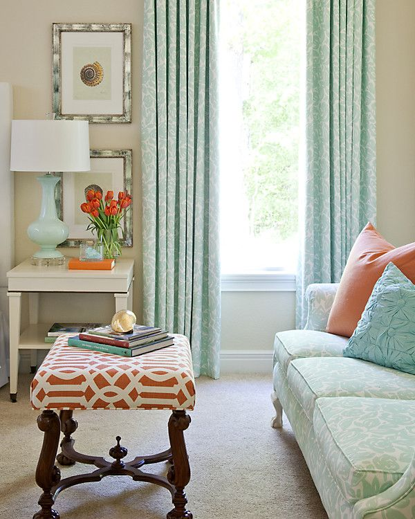 Bring home the colors of venice pastel room pastel and ottomans - Pastel living room colors ...