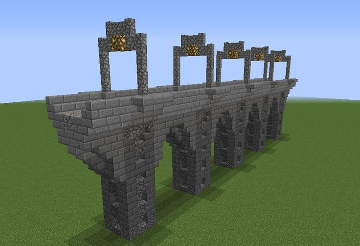 Railroad Stone Bridge - GrabCraft - Your number one source for MineCraft buildings, blueprints, tips, ideas, floorplans!