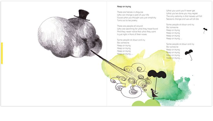 Illustration for track: Keep on trying Album: Friendly Fools by Marjit Vinjerui