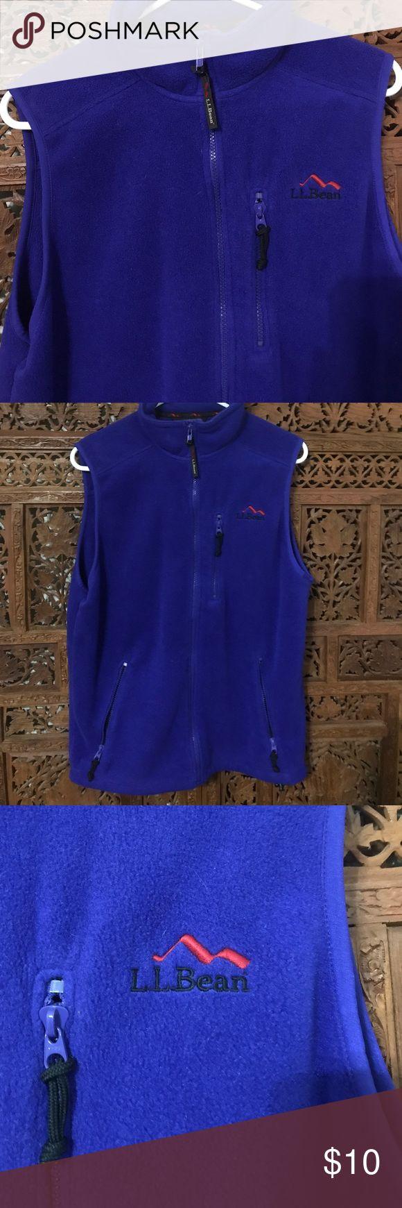 Purple LLBean Fleece Vest Great condition purple vest. Super warm with 3 easy zip pockets. No pulls. Smoke free home. L.L. Bean Jackets & Coats Vests