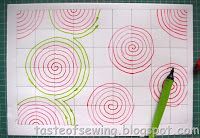 Мастер-классы и рисунки стёжкиСтёжка одеяла из треугольников кляксами