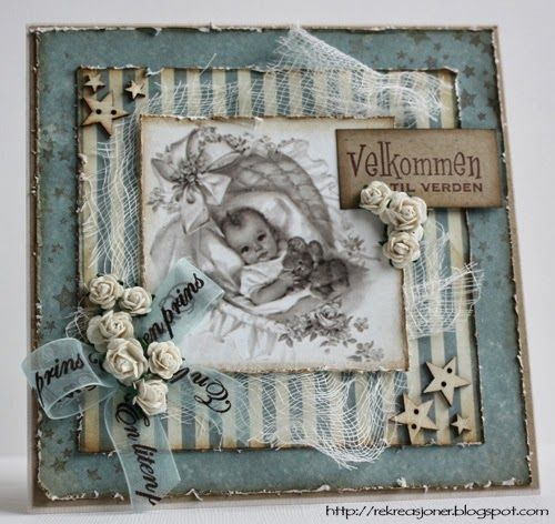 {Re}kreasjoner: Baby Boy card - Kort og Godt products