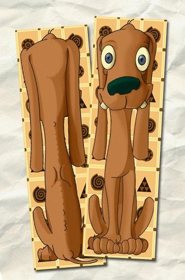 Marcapaginas ilustrados con simpáticas mascotas cartoon.