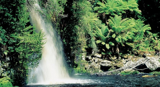 Waterfall, Gordon River, Tasmania.