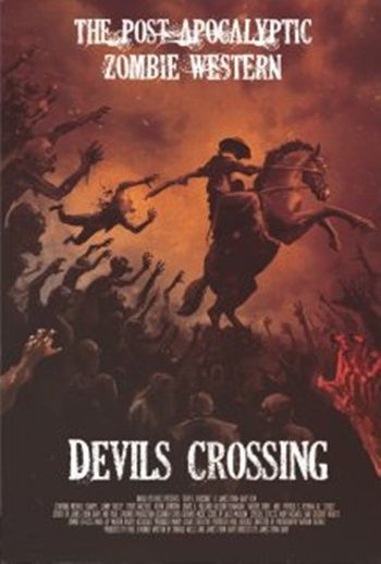 Director James Ryan Gary attempts to make a horror, western, post-apocalyptic, supernatural hybrid with the straight-to-DVD Cowboys Vs. Zombies: Devil's Crossing (2011).   Find out more: http://thezombiesite.com/cowboys-vs-zombies-the-devils-crossing-2011/