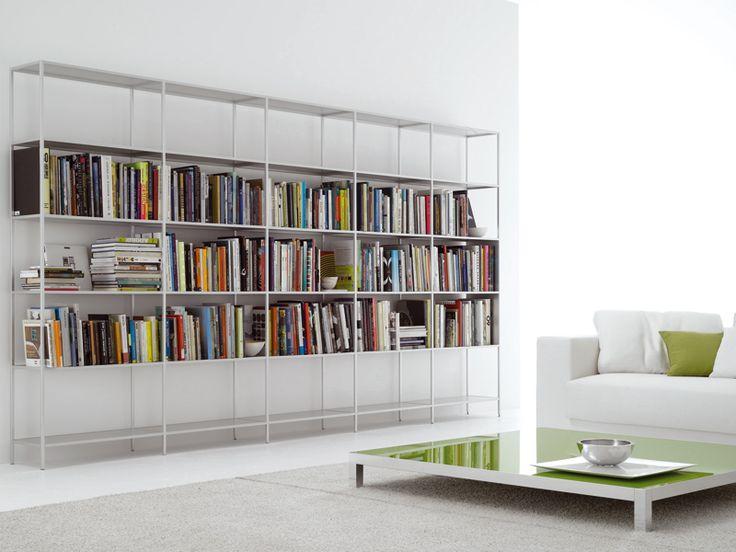 Libreria a giorno modulare in alluminio MINIMA by MDF Italia design Bruno Fattorini