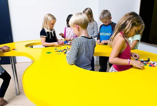 Collaborating table (Ordrup school, Denmark)