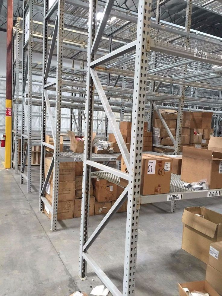 """42"""" X 16' (3X3) Used Teardrop Uprights (160 Sections of Used Pallet Racking)"""