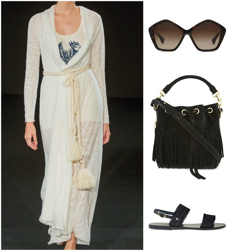 Look casual, yet put together in a long cardigan by #czechdesigner @monikadrapalova . Complete the look with #muimui shades, a bucket bag by #SaintLaurent and sandals by #gancientgreeksandals. #summerfashion #cardigan #casuallook #whattowear