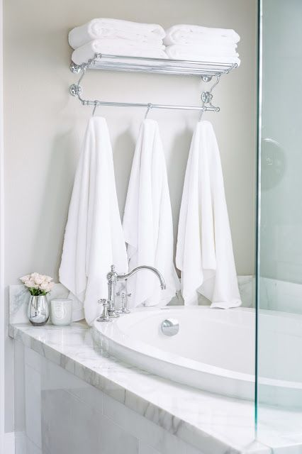 Master Bath Inspo Towel Rack Master Bathroom