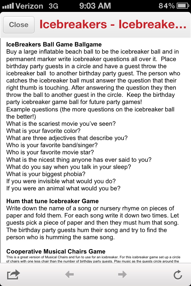 Funny icebreaker questions
