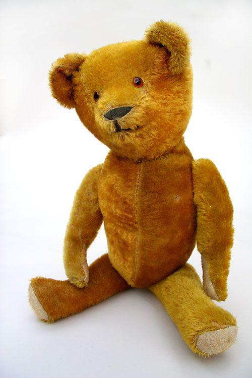 Early Antique Teddy Bear circa 1920 (19 inches)