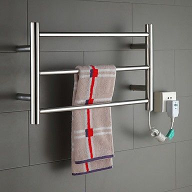 Cheap bathroom brass accessories, Buy Quality bathroom accessories brass directly from China accessori Suppliers: Hot Sale Heated Towel Rail, Stainless Steel Electric Towel Warmer Bathroom Towel Racks Holder Bathroom Accessories Wall