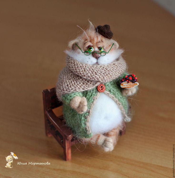 Купить Петр Филимонович ..) - бежевый, кот, толстый котик, умиление, юмор, смешной подарок