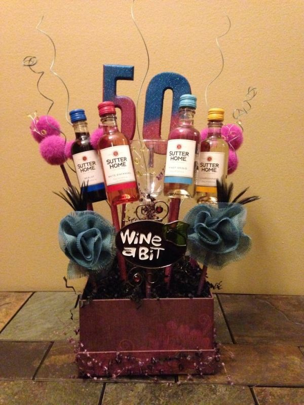 50th Birthday Basket by Shireen Shanker