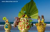 Brazilian Fruit Tropical Sculptures and exotic drinks.