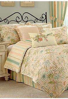 Waverly 174 Cape Coral Quilt Collection Serene Bedding