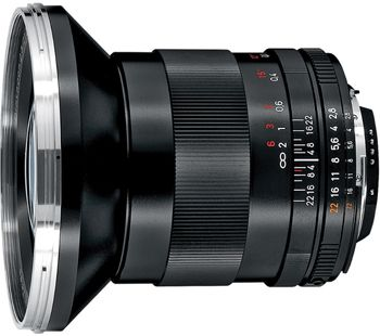 Zeiss Distagon T* 21mm F/2.8 ZF.2 Lens for Nikon   Available for rental from Borrow Lenses