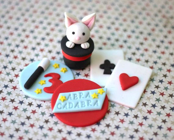 Red Magic Fondant Topper Set.
