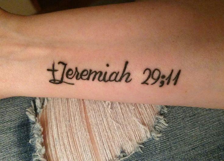 my new ink  jeremiah 29 11  semicolon  cross  jesus