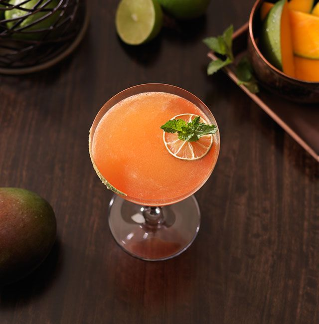 Enjoy Mumbai Margarita, a cocktail made with Patrón Reposado.
