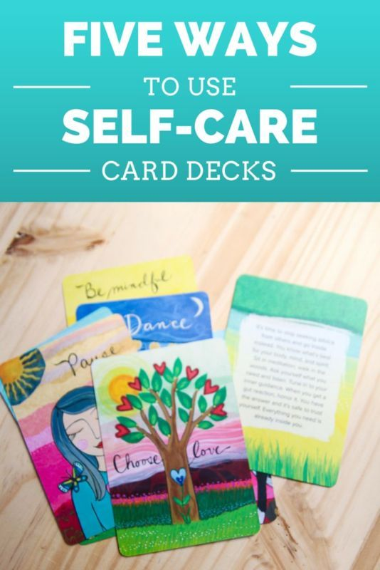 5 ways to use self-care and inspiration cards