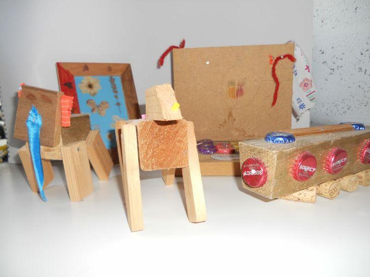 voor kinderen / Workshops op maat | Evelineworkshops.nl  Hout en stof  (resthout)