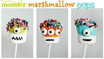 multiples & more - halloween - monster marshmallow pops