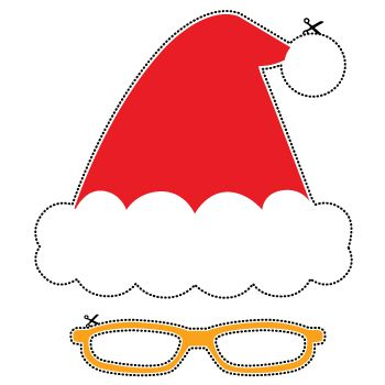 Mr Christmas Props - free to download and great fun for a Christmas party.
