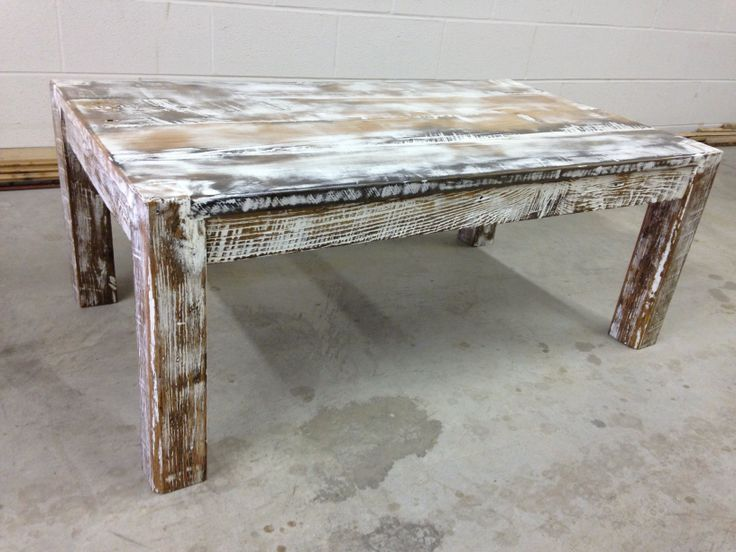 Whitewashed coffee table reclaimed wood longwood tables pinterest coffee coffee tables Whitewash coffee table