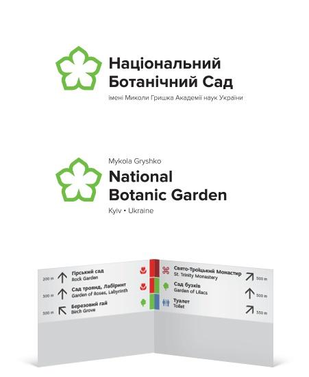 Identity, wayfinding and signage system (concept)   National Botanic Garden, Kyiv, Ukraine. Design by Igor Skliarevsky