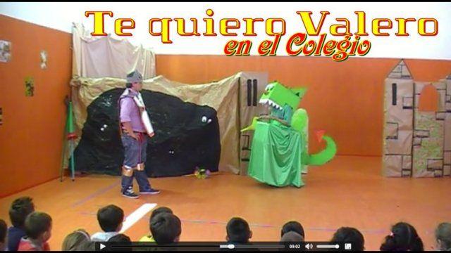 """Vídeo. Teatro en la escuela. Un grupo de papás y mamás representaron para todos los escolares la obra """"Te quiero Valero"""".."""