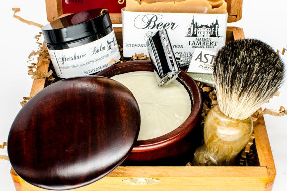 An amazing gift for any man!!  Maison Lambert ultimate shaving kit is package in an beautiful wood cigar box and contains everything you need for