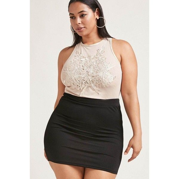 Forever21 Plus Size Floral Mesh Dress ($38) ❤ liked on Polyvore featuring plus size women's fashion, plus size clothing, plus size dresses, nude, floral cami, strappy cami, floral mini dress, forever 21 dresses and nude dress