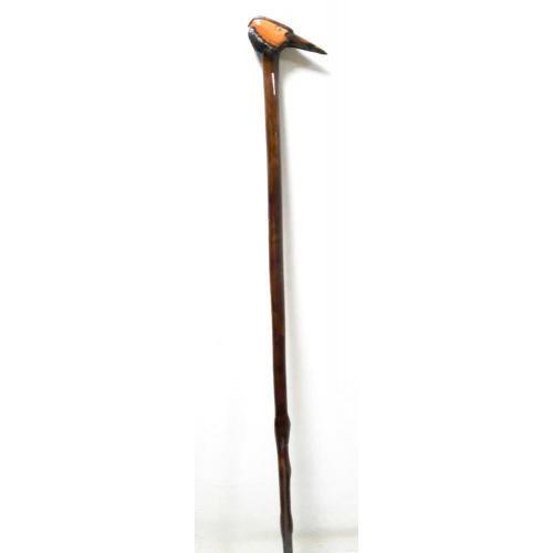 Tek Parça Devrek Bastonu Natürel - Kuş İşlemeli