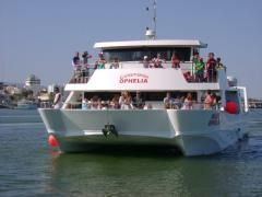 Book Boat Cruises trip Albufeira Fishing Dolphin Caves algarve - BOAT CRUISE from PORTIMÃO - OPHELIA Catamaran BBQ 6hrs (Family and kids Cruise)