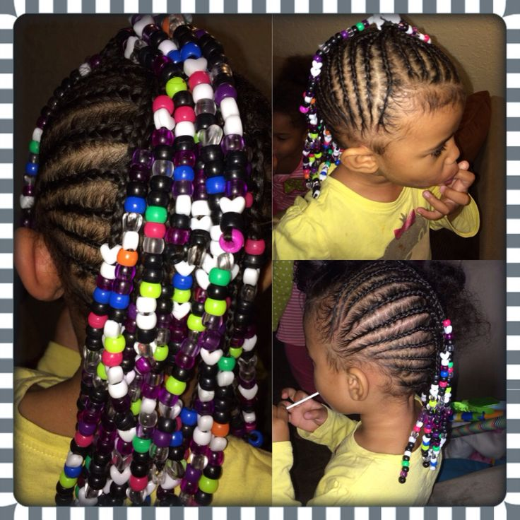 Cornrows Mohawk Beads Toddler Hairstyles Mixed